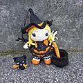 Test crochet - pippa en costume de sorcière...