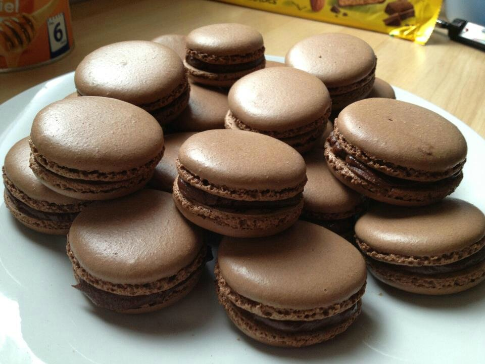 Macarons Chocolat Ganache Chocolat Noir