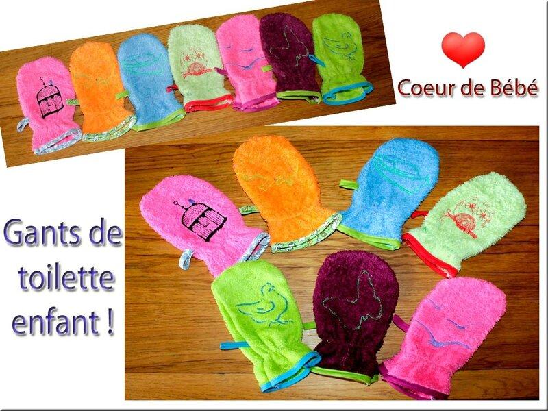 gants de toilette