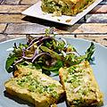 Cake brocoli, petits pois et mozzarella