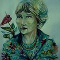portrait Maria, aquarelle, isla holbax