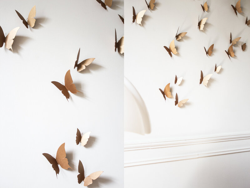 Envolée de papillons walldecoration papier trendy little 4