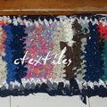 tapis dentrée en tissus divers et usagés