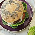 Burger tout fait maison sauce au gorgonzola mama mia que c'est bon !