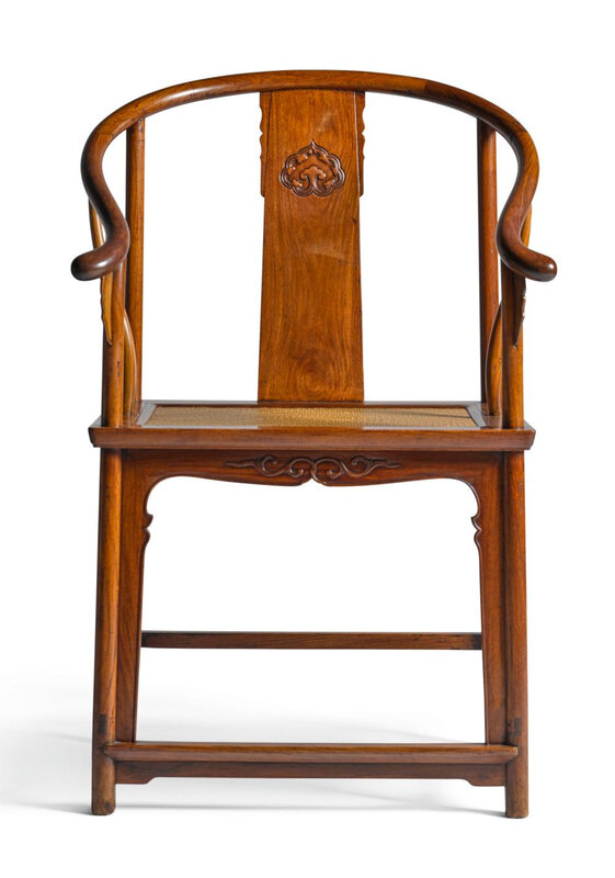 A good huanghuali horseshoe-back armchair, quanyi, late 16th-early 17th century
