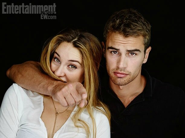 EW photoshoot Shailene Woodley Theo James