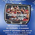 Rdv le 1er octobre pour le prochain spectacle de chansons d'abord