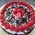 Gâteau de saison aux fraises