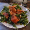 salade roquette et huile de sésame