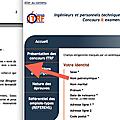 Clin d'oeil : circulaire n° 5575/sg du 21 février 2012 et formulaire inscription concours itrf