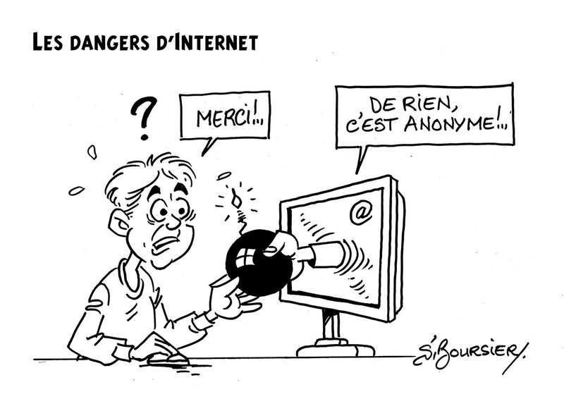 les dangers d'internet web