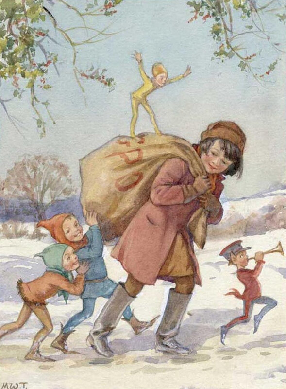 Margaret Tarrant-The Brownies' Christmas Mail1450111323