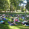 La parenthèse yoga vous propose une initiation au yoga gratuite ce dimanche 14 août 2016 au parc de l'orangerie à strasbourg