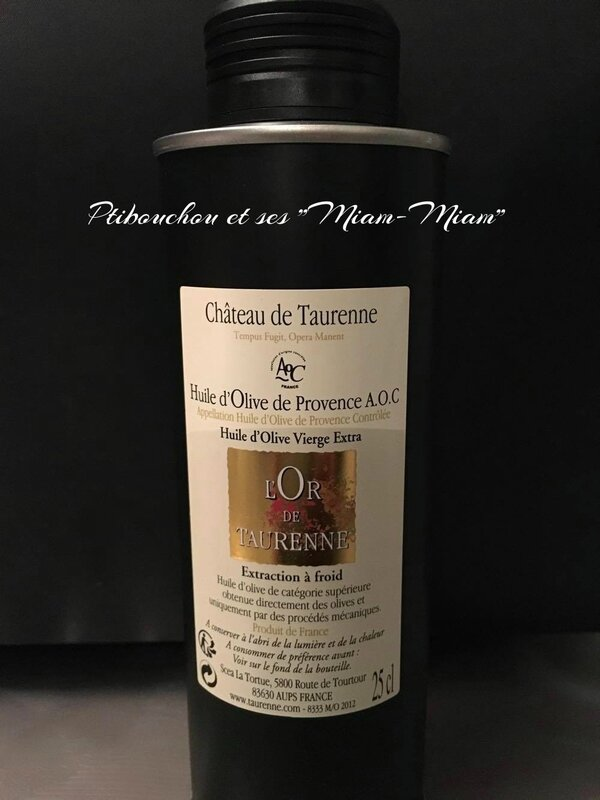 A.O.C. PROVENCE Huile d'olive Vierge extra - Domaine de Taurenne
