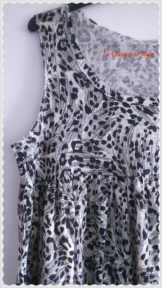 Mon top plissé noir et blanc