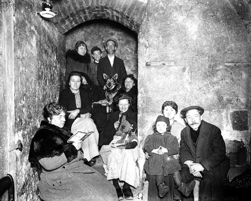 Cave à Paris bombardement 1918