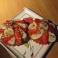 Tartelettes banane fraises