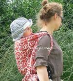 Chapeau été Zoli et écharpe Scarlet de Tinge Garden