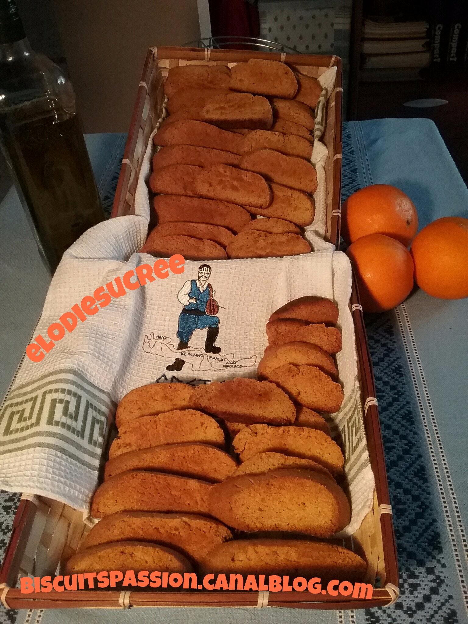 Biscuits grecs à l'orange et à l'huile d'olive ( PAXIMADIA PORTOKALIOU )