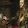 Titien : le roi Philippe II (détail) 1551 - Musée du Prado