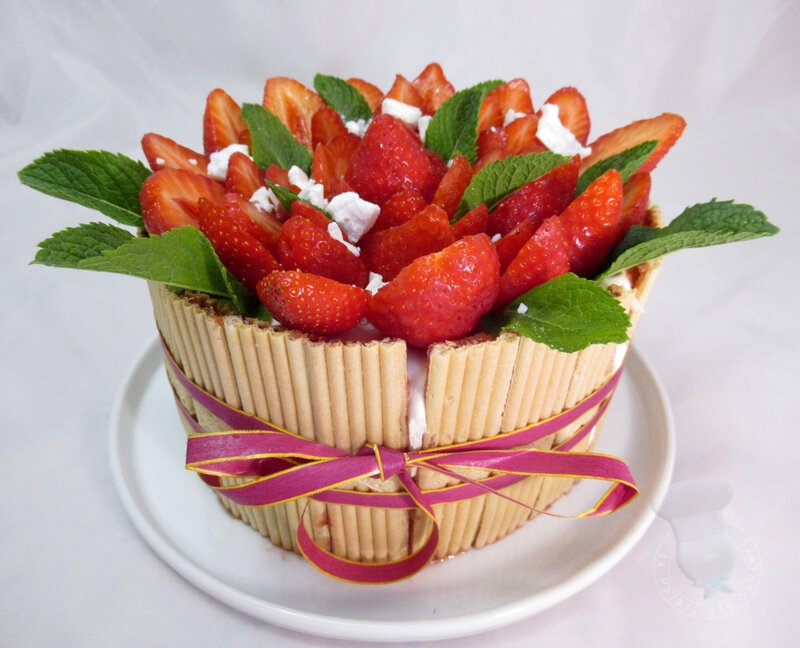 Charlotte fraises menthe