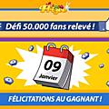 Plus de 50 000 fans sur la page facebook de prizee !