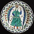 Dish, turkey, iznik, ottoman period, first half of 17th century