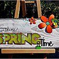 De la couleur pour accueillir le printemps...