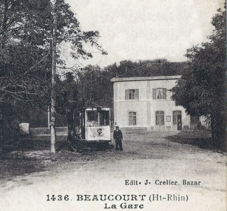 CPA Beaucourt Gare & Tramway