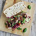 Sandwich de boulettes et pancetta de jamie oliver