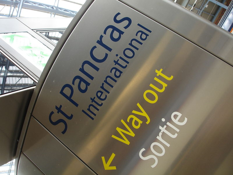Londres - St Pancras : signalétique