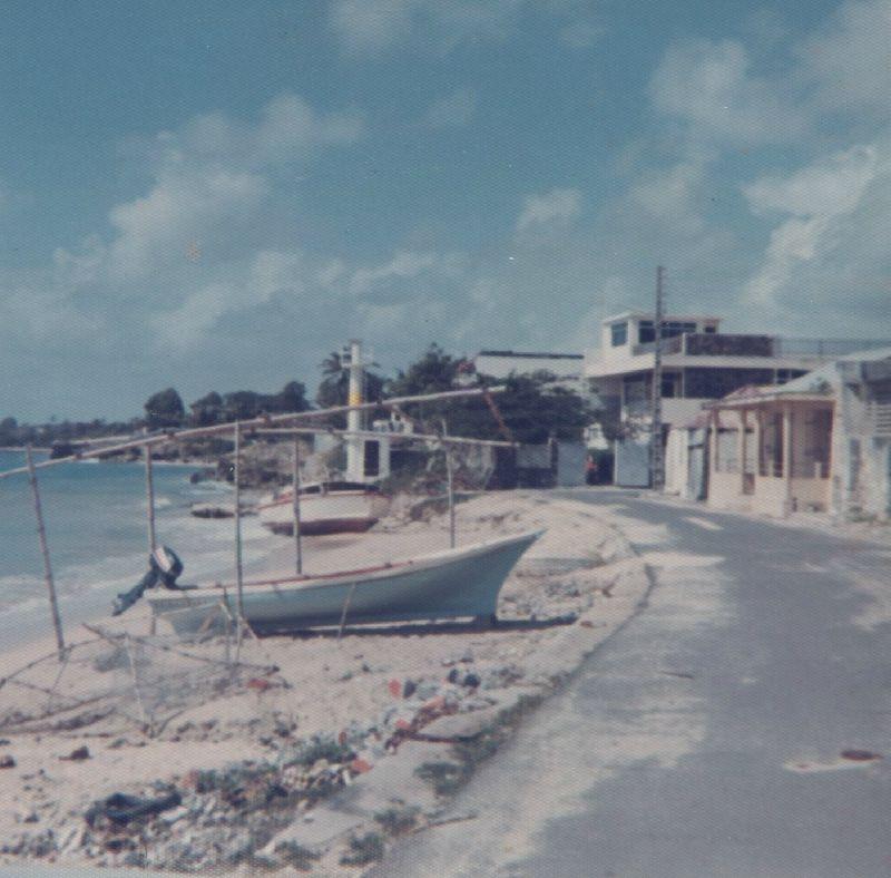 Le port de St François ...en 1975