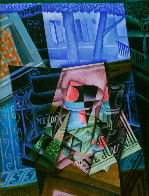web Juan Gris, Still Life before an Open Window, Place Ravignan, 1915, Philadelphia Museum of Art, The Louise and Walter Arensberg Collection, 1950