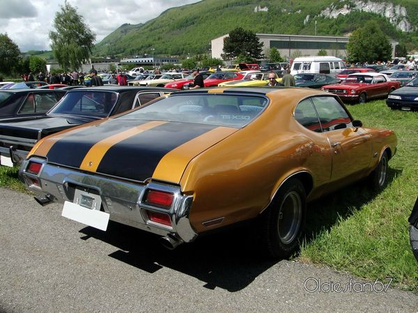 oldsmobile 442 holiday hardtop coupe 1971 b