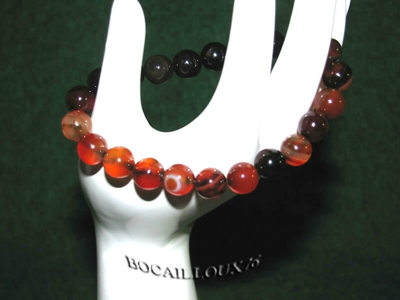Bracelet AGATE 6 Perles 8mm (5)
