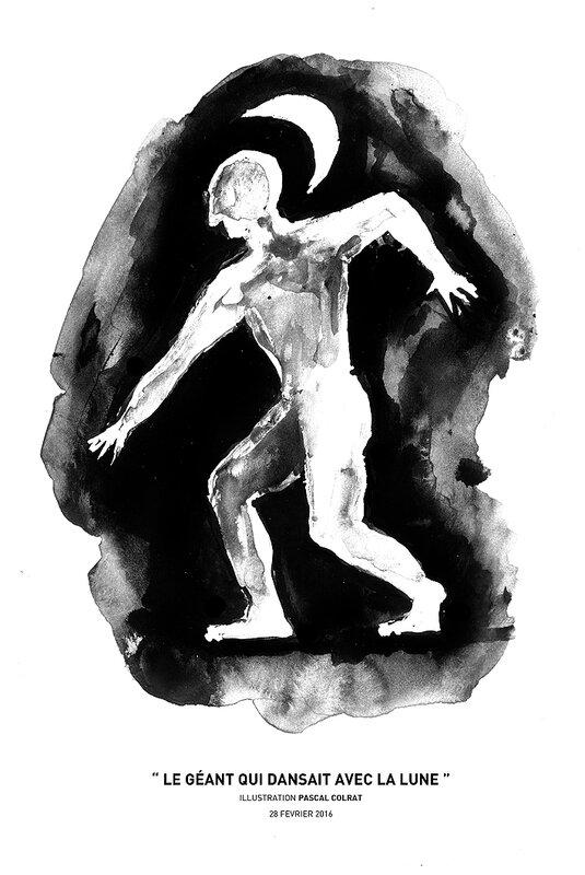 legéant qui dansait avec le lune