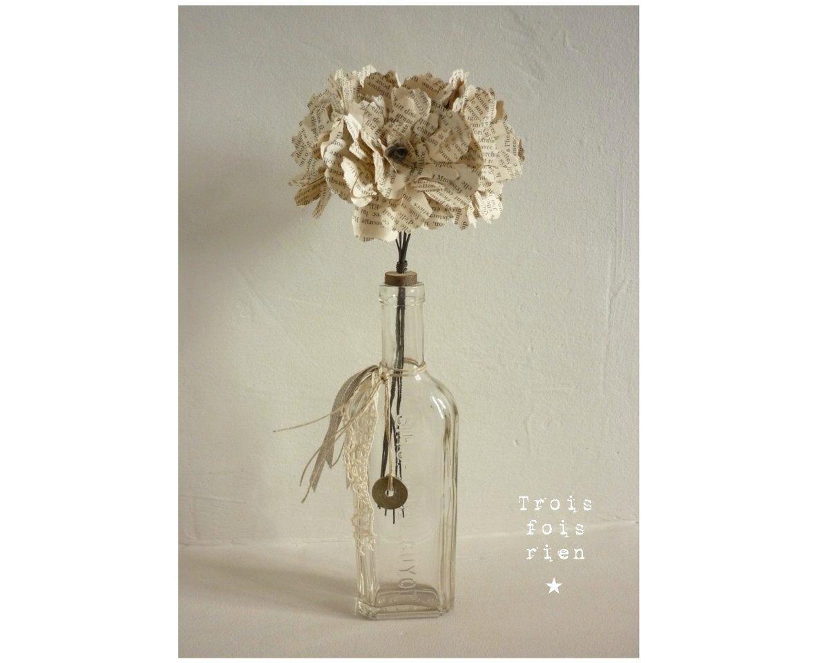 Fiole et fleurs papier N°24 (1)