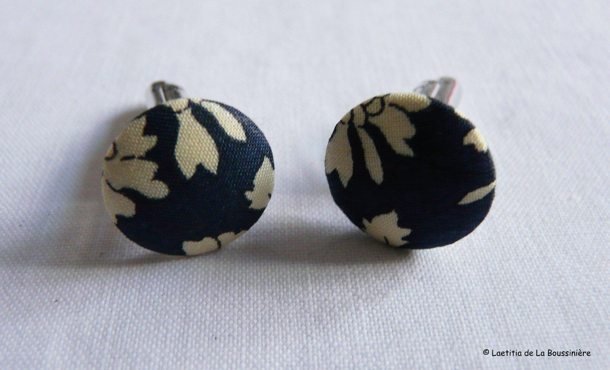 Boutons de manchette (Capel bleu)