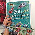 Moi j'adore 200 avions en papier à plier et à faire voler (éditions usborne)