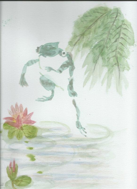 Dessins grenouilles couleur en situation 1