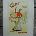 Collection ... lithographie originale eugenie buffet (1895) *maîtres de l'affiche*