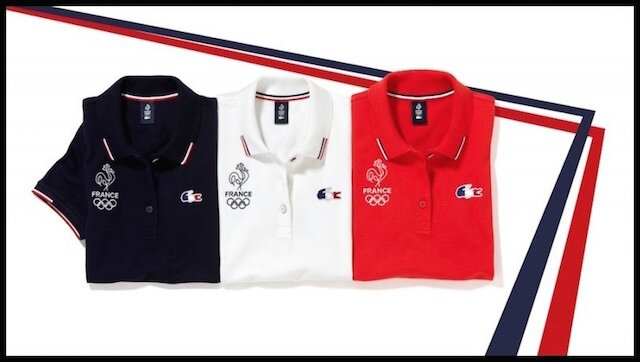 lacoste polos olympique france polos