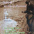 Issoudun, cantons sud et nord - hommage aux poilus tombés au champ d'honneur (1914)