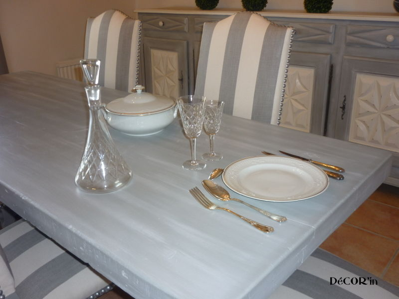 Stunning Table Salle A Manger Blanc Vieilli Pictures - Awesome ...