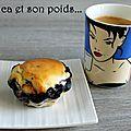 Muffins myrtille et chocolat blanc {empreintes briochettes}