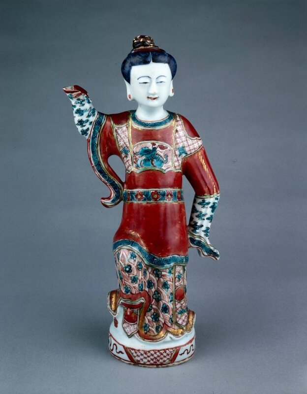 Wine ewer in the form of a woman with kinrande decoration, Ming dynasty, Jiajing to Wanli reign, about AD1522–1600