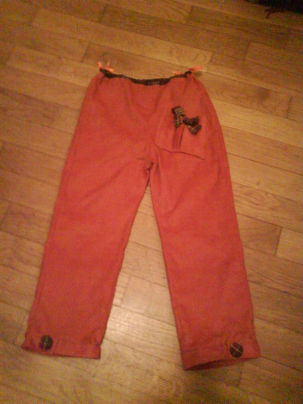 pantalon en velours mille raies