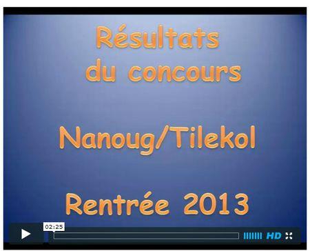 image vidéo résultats concours