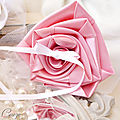 mariage rose blanc porte-alliances original duo fleur bouquet cereza mademoiselle 1