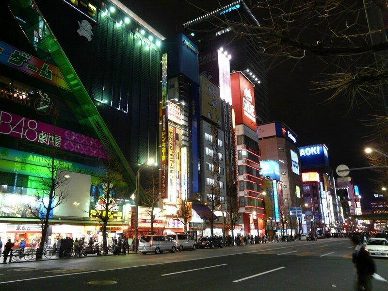Canalblog Tokyo Akihabara Escaliers16 Nuit Bas
